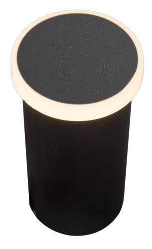 Zahradní lampa Azzardo ALF ROUND 3000K BK