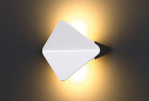 Tigra II bílá nástěnná lampa
