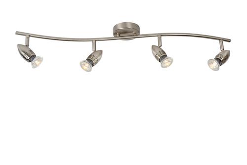 Plafond čtyřbodový CAROLINE saténový chrom GU10