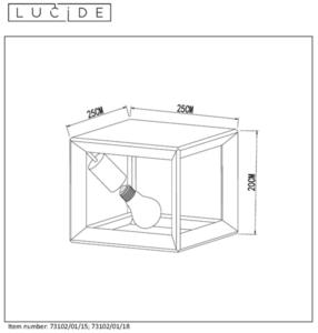 Jednobodový strop THUNDER CUBE šedá litina E27 small 1
