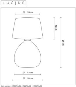 Stolní lampa RAMSEY II, šedá E27 small 1
