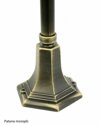 Zahradní lampa Retro Classic K 5002/3 (87 cm) Vintage černá