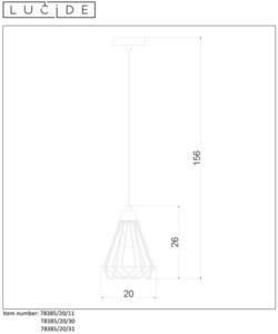 Ročník závěsná lampa KYARA Ø 20 cm bílá small 1