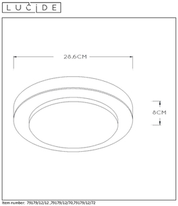 Světlá dřevěná očka strop stropní LED 28,6 cm small 1