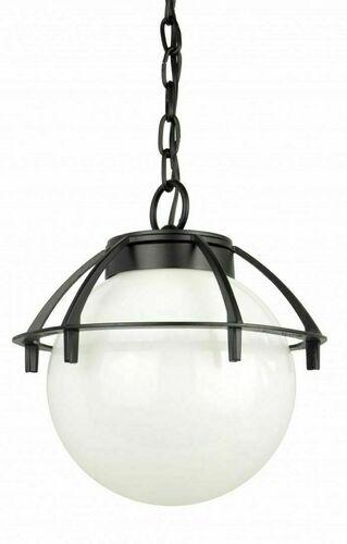 Venkovní závěsné kuličkové světlo s košíkem 25cm