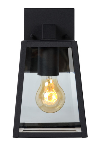 Vnější nástěnné svítidlo MARSLOT černý hliník E27