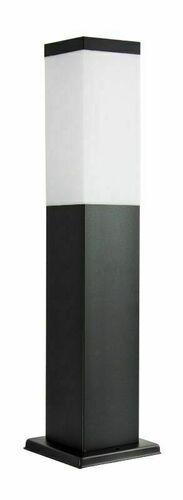 Zahradní lampa SUMA INOX KWADRATOWA BLACK 44 cm