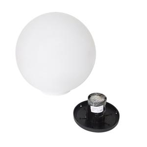 Zahradní lampa Luna ball 30 cm, dekorativní koule, svítící zahradní koule, bílá, lesklá small 2