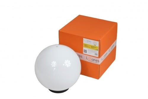 Zahradní lampa Luna ball 30 cm, dekorativní koule, svítící zahradní koule, bílá, lesklá