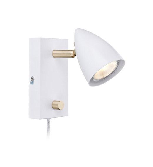 CIRO. Nástěnné svítidlo 1L White / Gold Brushed
