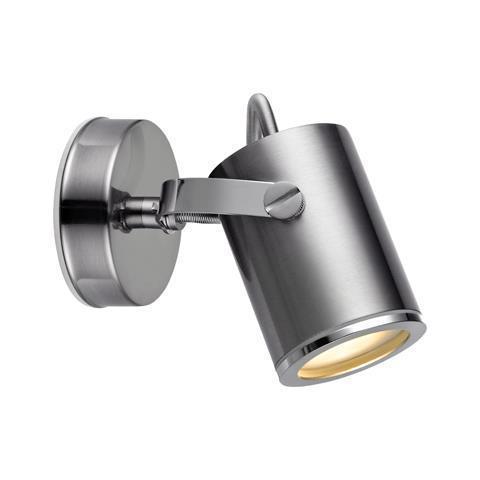 LUX Nástěnná lampa Spot 1L IP44 Ocel