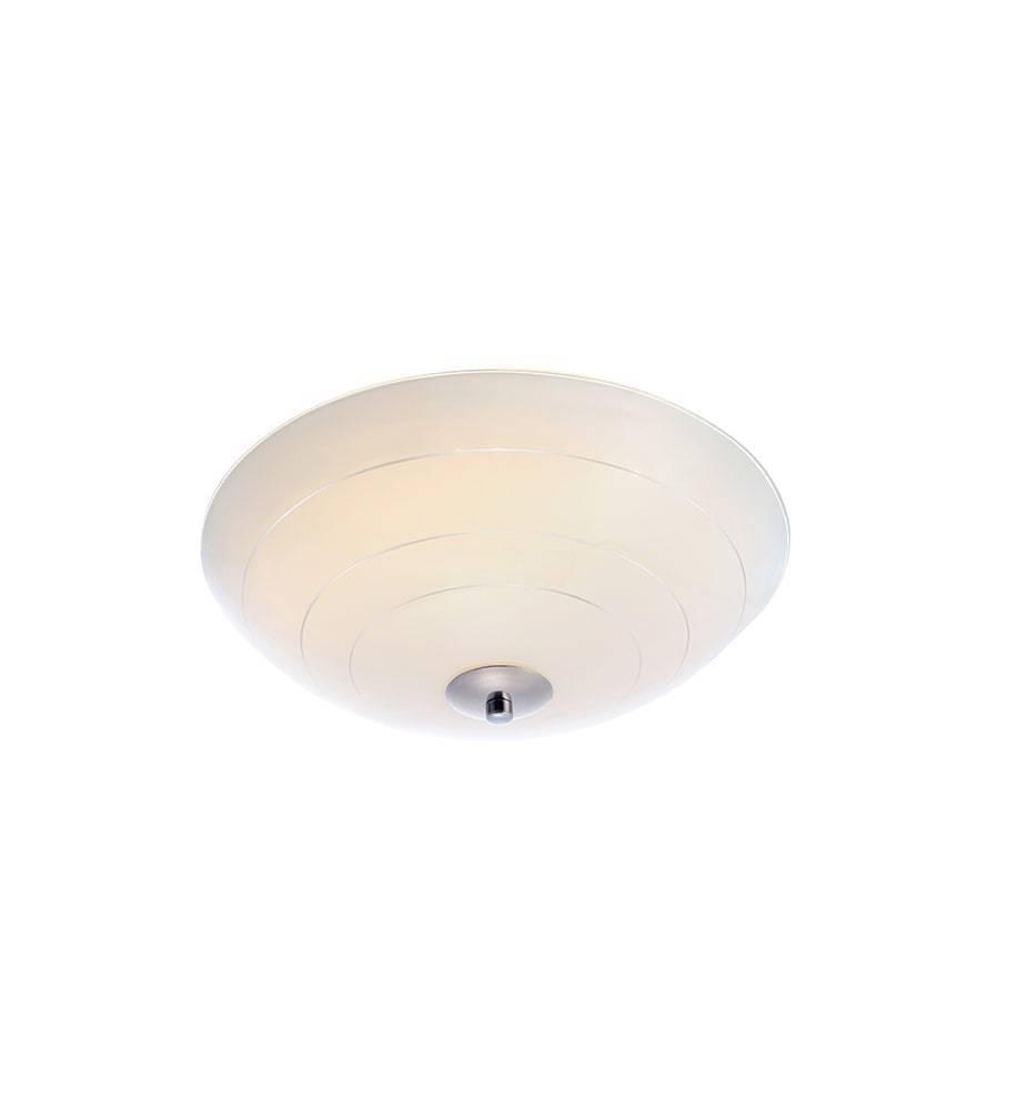 LYON Plafon 35cm bílá / stříbrná