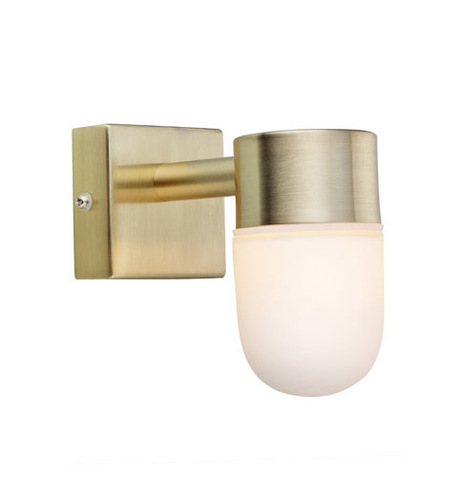 MENTON Nástěnná lampa 1L Golden Brushed / Opal IP44