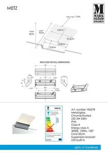 METZ Nástěnná lampa Chrome IP44 small 0