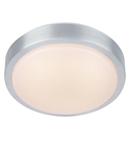 MOON Plafon 22cm LED hliník / bílá