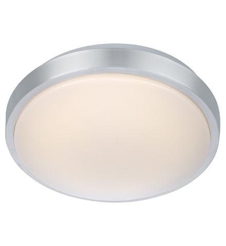 MOON Plafon 28cm LED hliník / bílá