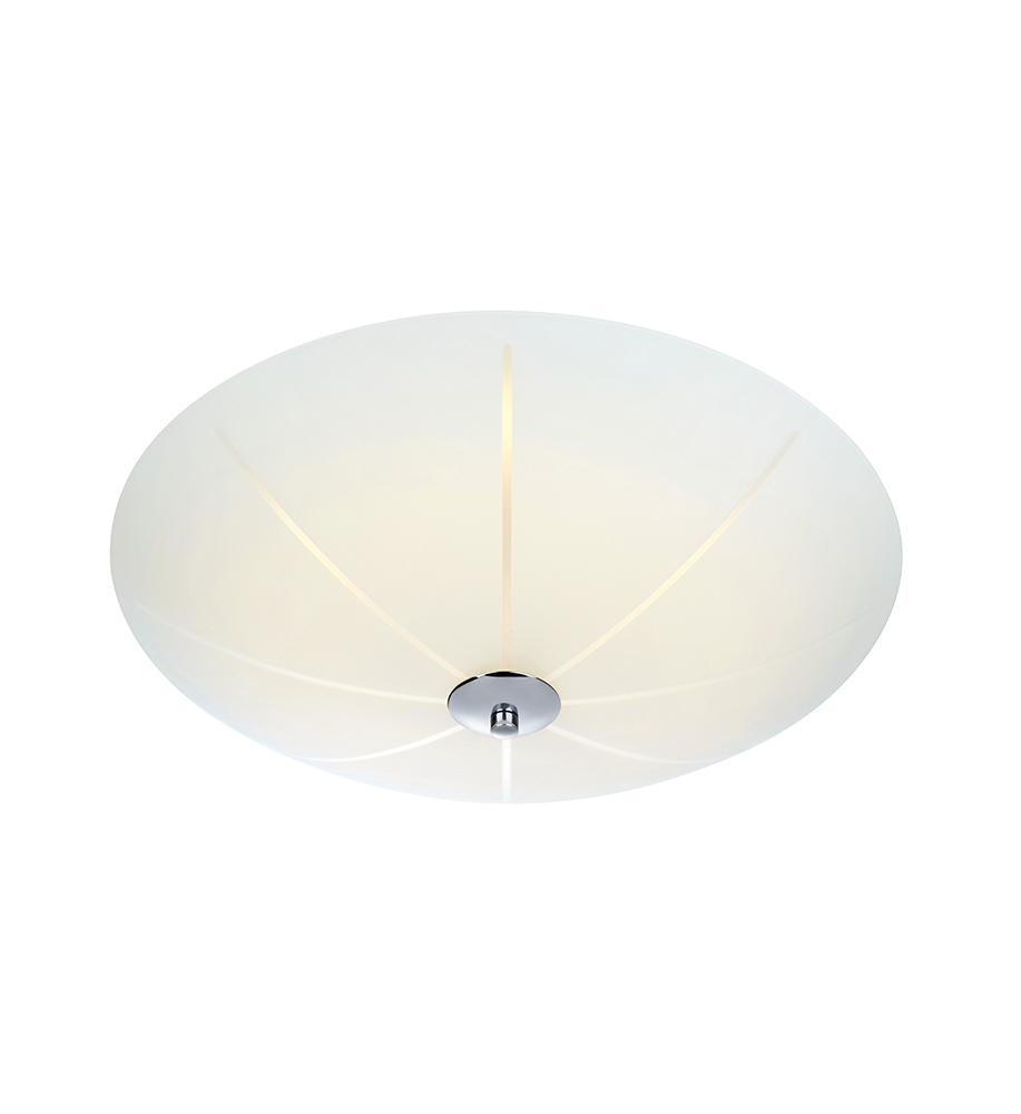 NAZCA Plafon 43cm LED bílá / chrom