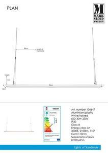 PLAN 90cm 30W Panel bílý small 1