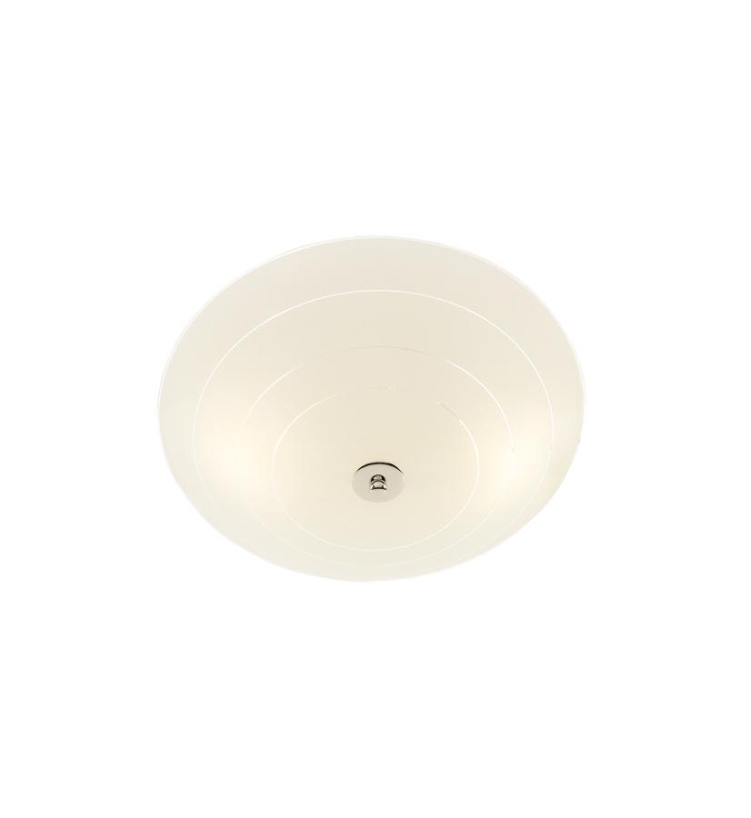 PRESTON LED Plafon 35cm bílá / chrom