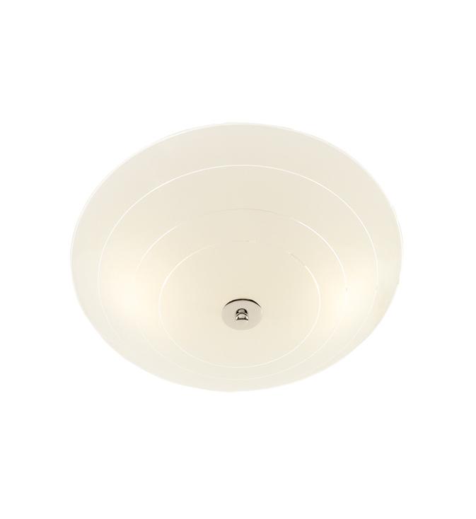 PRESTON LED Plafon 43cm bílá / chrom
