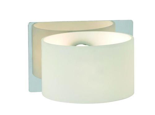 SIGTUNA Nástěnná lampa 1L chrom / bílá IP44