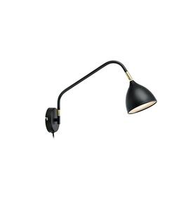 VALENCIA Nástěnné svítidlo 1L Black / Gold small 0