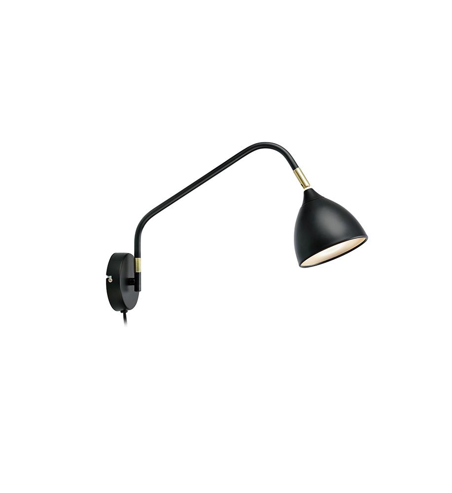 VALENCIA Nástěnné svítidlo 1L Black / Gold