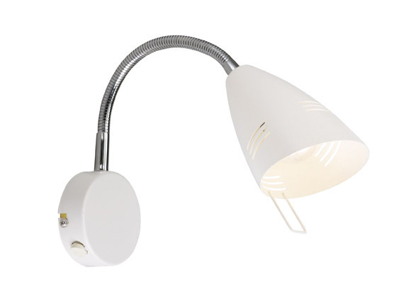 VEJLE Nástěnná lampa bílá