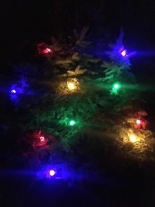 Zářící věnec vánoční stromeček 20m 20 vícebarevné LED žárovky small 1