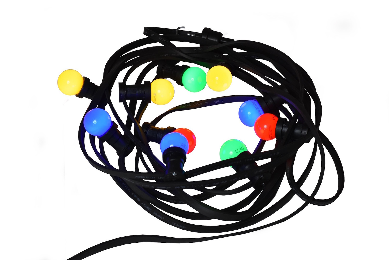 Zářící vánoční stromeček věnec 30m 60 vícebarevné LED žárovky