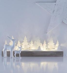 Stolní dekorace pro svátky JOHANNESBERG bílá LED small 0