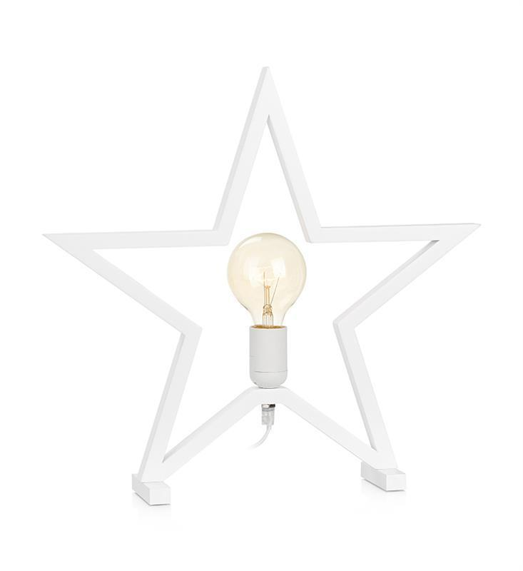 MARTA dekorativní hvězda na bílém stole