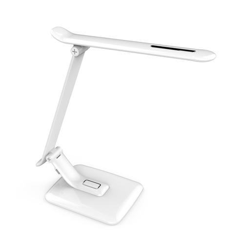 Stolní lampa bílá PIXI 12W + USB