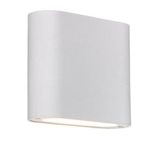Bílá nástěnná lampa Sapri
