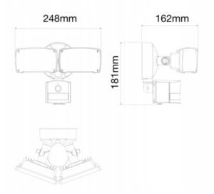Venkovní LED lampa s pohybovým senzorem a HD WIFI Smart kamerou small 1