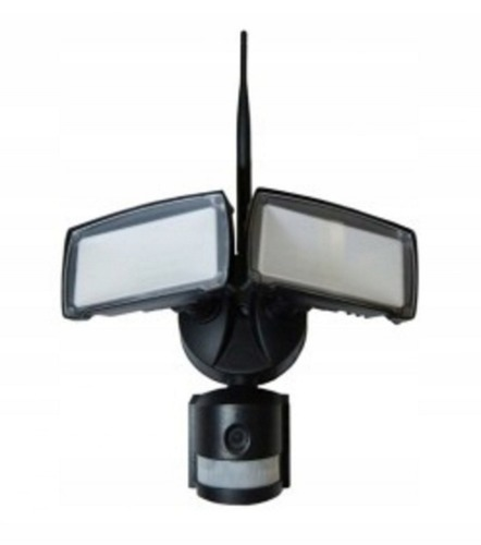 Lampa zewnetrzna led z czujnikiem ruchu i kamera hd wifi samart l