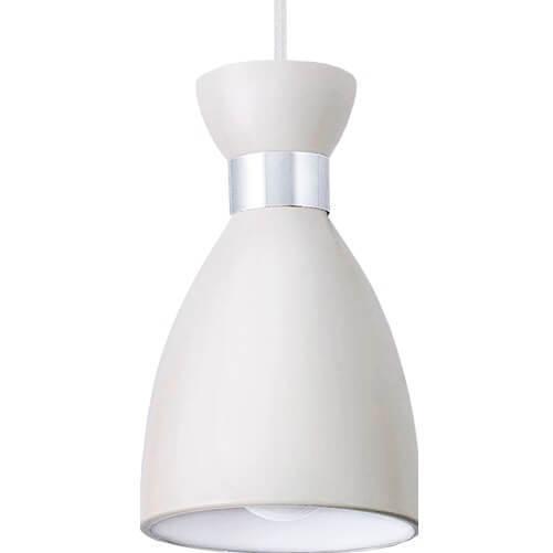 Bílý kov přívěsek lampa Charlotte