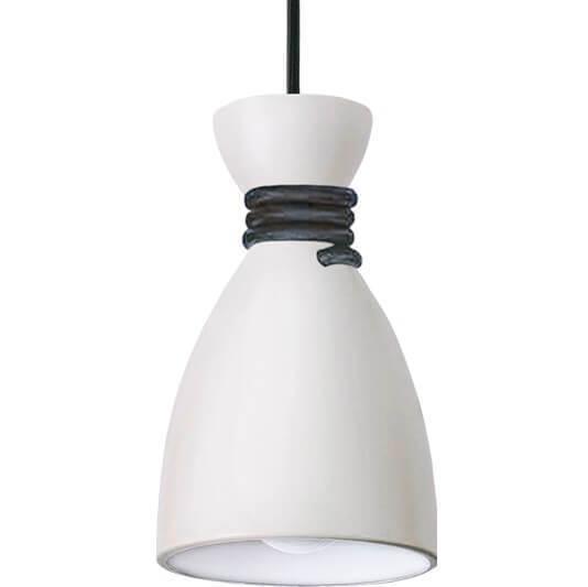 Bílá a černá lampa s přívěskem Tessa