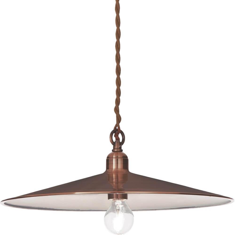 Starožitná měděná Aurelia přívěsná lampa