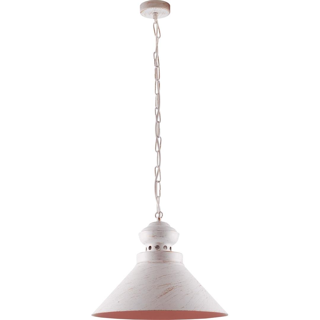 Bílé a zlaté kovové Hedwig přívěsek lampa