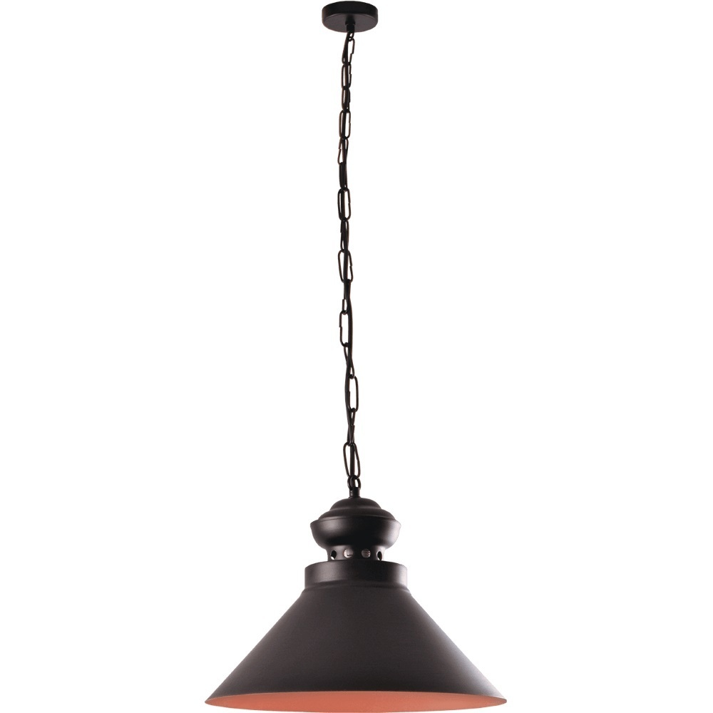 Černá a hnědá závěsná lampa Maisie