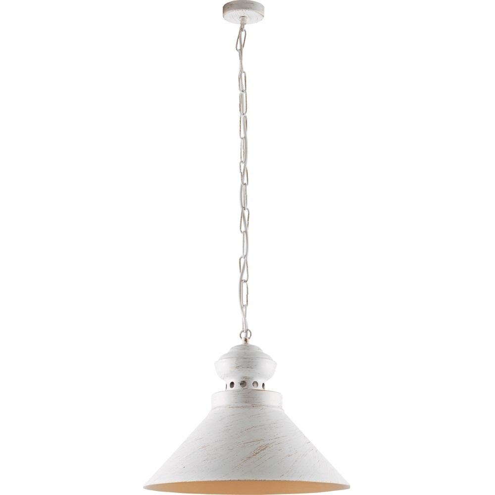 Bílé a zlaté kovové Hazel přívěsek lampa