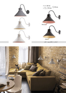 Beat-gold kovové Charlie nástěnná lampa small 1