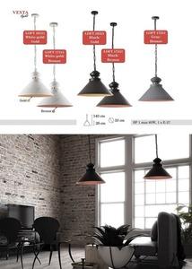 Šedo-hnědá svítilna Ernestine Metal Pendant Lamp small 0