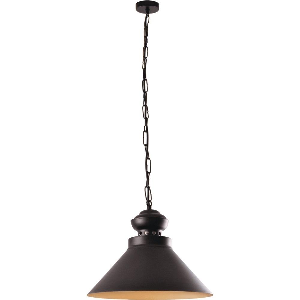 Černá a zlatá kovová lampa Dominika