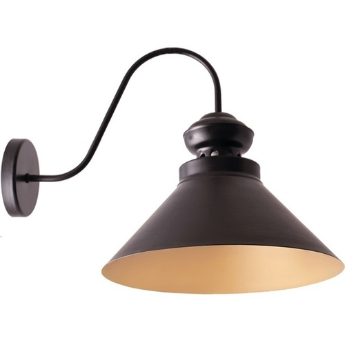 Czarny ze zlotem lampa kinkiet frank 2 l
