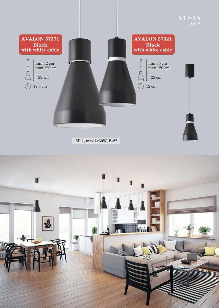 Černá Florence závěsná lampa