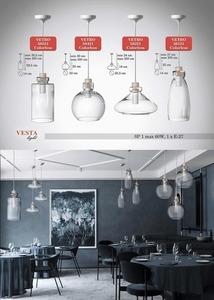 Průhledná skleněná lampa Ira Pendant small 0