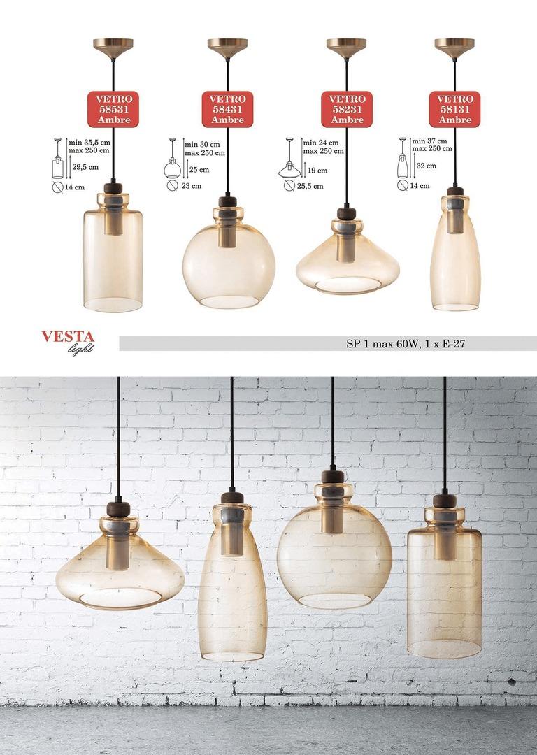 Skleněná lampa Ambre Glass Justine
