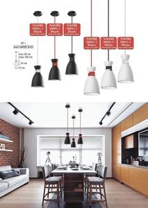 Bílá závěsná lampa Red Naomi Cable small 1